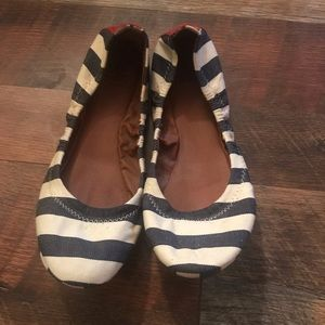 Super cute striped lucky brand flats size 7